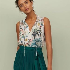 Sleeveless Blouse Tropical Print H&M NWT